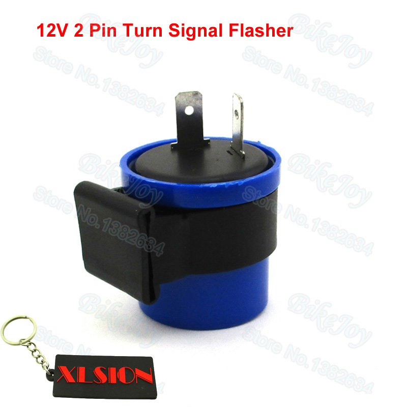 Relais de signal de moto 2-Pin moto clignotant clignotant beeper relais clignotant clignotant 12V