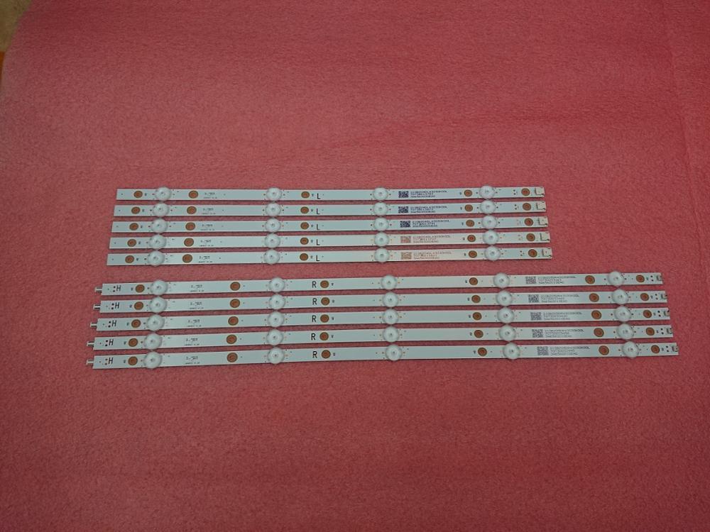 New Kit 10 PCS LED Backlight Strip For 49PUS7503 49pus6162/12 LB49023 V1_00 V0_00 3A6560010EA0 3A6560000EA0