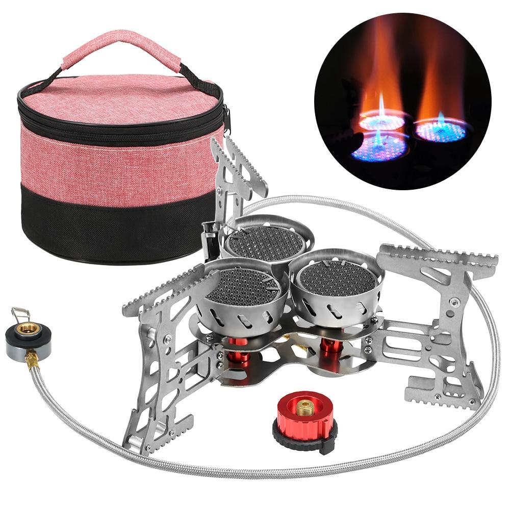 Lixada 8000 Вт портативная газовая плита наружная ветрозащитная походная горелка для кемпинга оборудование для походов путешествия