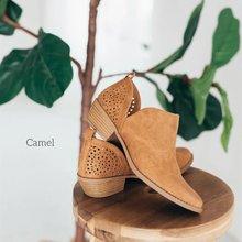 Женские ботинки ретро без застежки на высоком каблуке Размеры