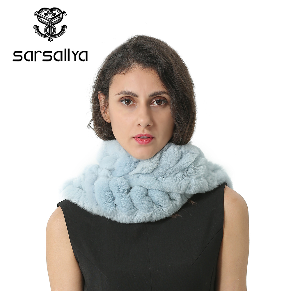 Real Fur Scarf Women Winter Fashion Ring Scarfs For Ladies Warm Rabbit Neck Scarves Female Hiver Foulard Femme Bufanda Mujer