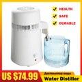 ЕС/США вилка из нержавеющей стали бытовой 4L дистиллятор воды прибор для дистилляции воды безопасная питьевая