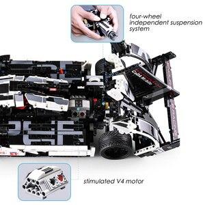 Image 4 - 1586 sztuk Technic Super Sport samochód wyścigowy klocki do budowy MOC zdalnie sterowanym samochodowym zestaw klocków kreator ekspert dla dzieci zabawki dla dzieci prezenty