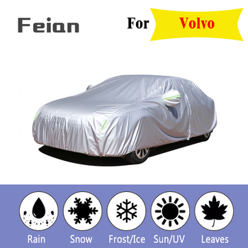 Full Car Cover indoor Outdoor Sunscreen Heat Snow freeze Protection Dustproof Anti-UV Shade for Hatchback sedan SUV for Volvo