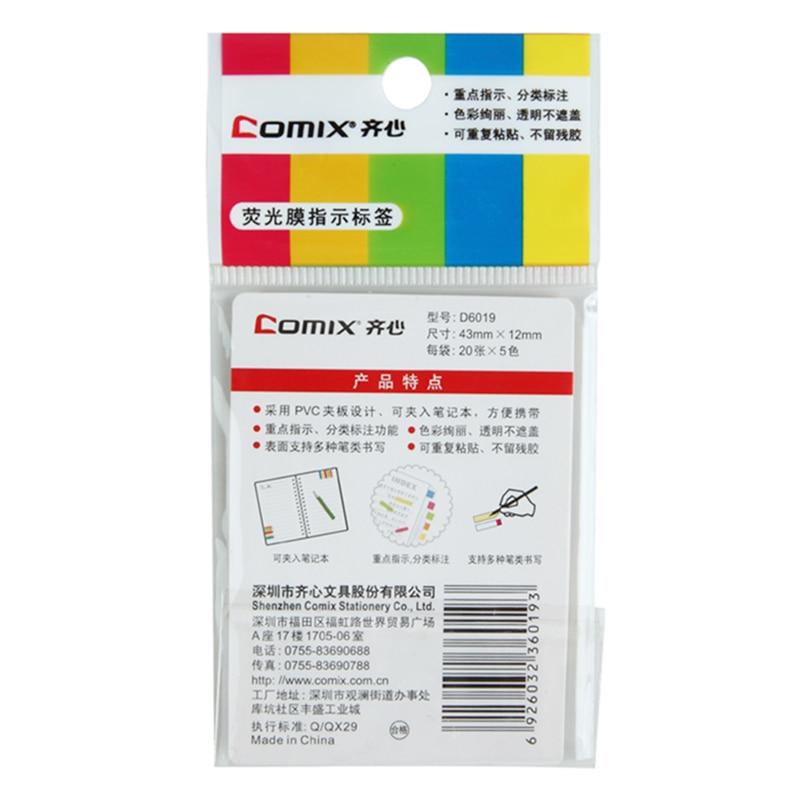 Comicx, D6019 Easy Tab 5 цветов 20, ассорти