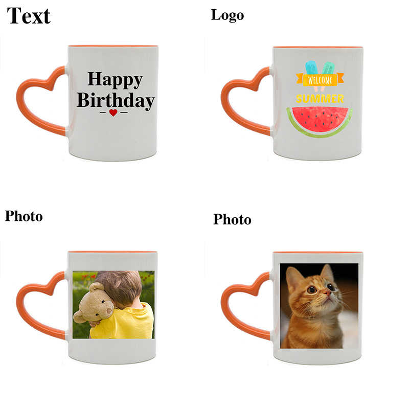 Stampati personalizzati Tazza di 9 Stili 11 Colori Tazza FAI DA TE Foto LOGO Testo Tazza di Caffè Amici di Famiglia Regalo Di Festa Di Compleanno di Ceramica tazza