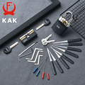 Слесарное учебное пособие для удаления ключа KAK  с прозрачным висячим замком и набором отмычек