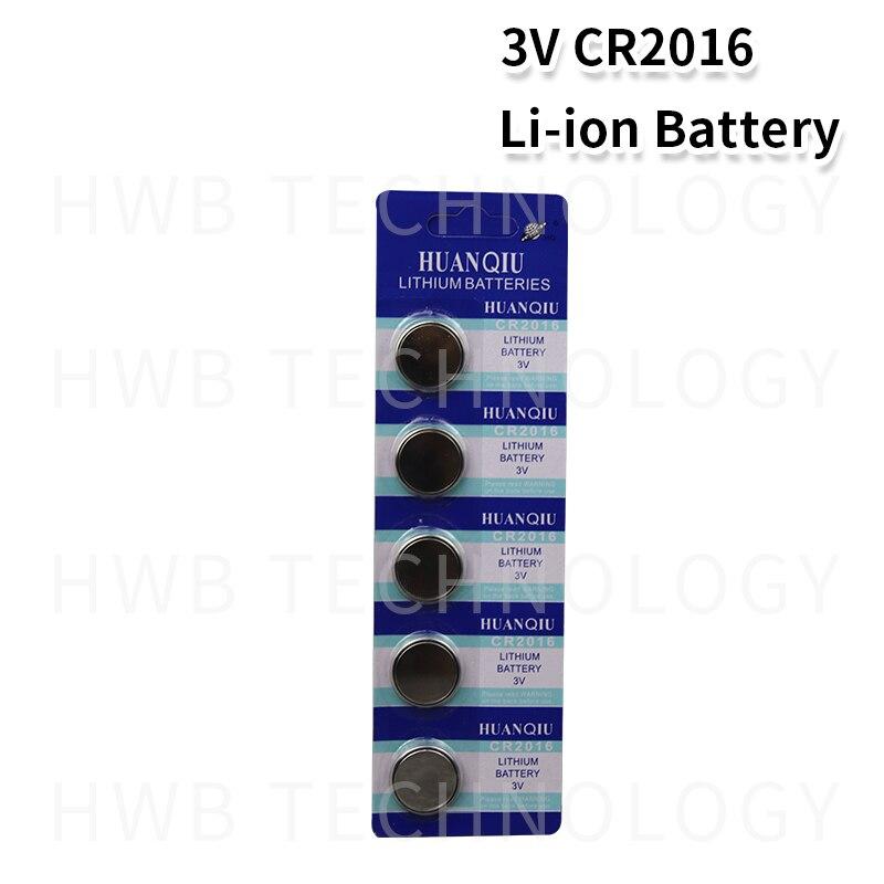 5 pçs/lote 1 cartão cr2016 3 v lítio li-liom bateria dl2016 ecr2016 lm2016 br2016 cr 2016 botão celular moeda baterias relógio brinquedos
