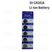 Cartão de lítio li-liom 5 pçs/lote 1, cr2016 3v bateria dl2016 ecr2016 lm2016 br2016 cr 2016 botão célula baterias de moedas relógio, brinquedos
