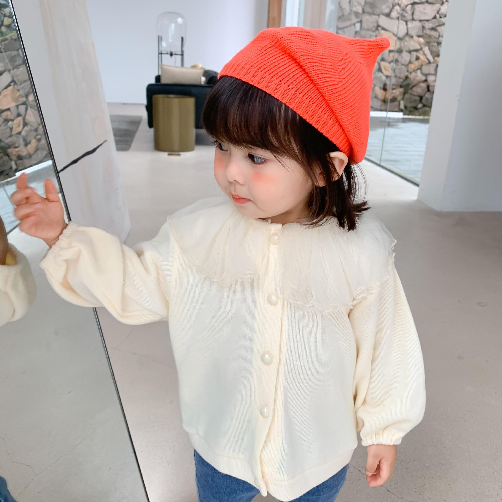 2021 Autumn New Arrival Girls Long Sleeve Coat Kids Korean Design Cardigans  Girl Coat 4