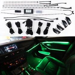 9-цветный автоматический автомобильный неоновый светильник для межкомнатной двери BMW 5 серии F10 F11 F18 2010-2018 декоративный светильник ing