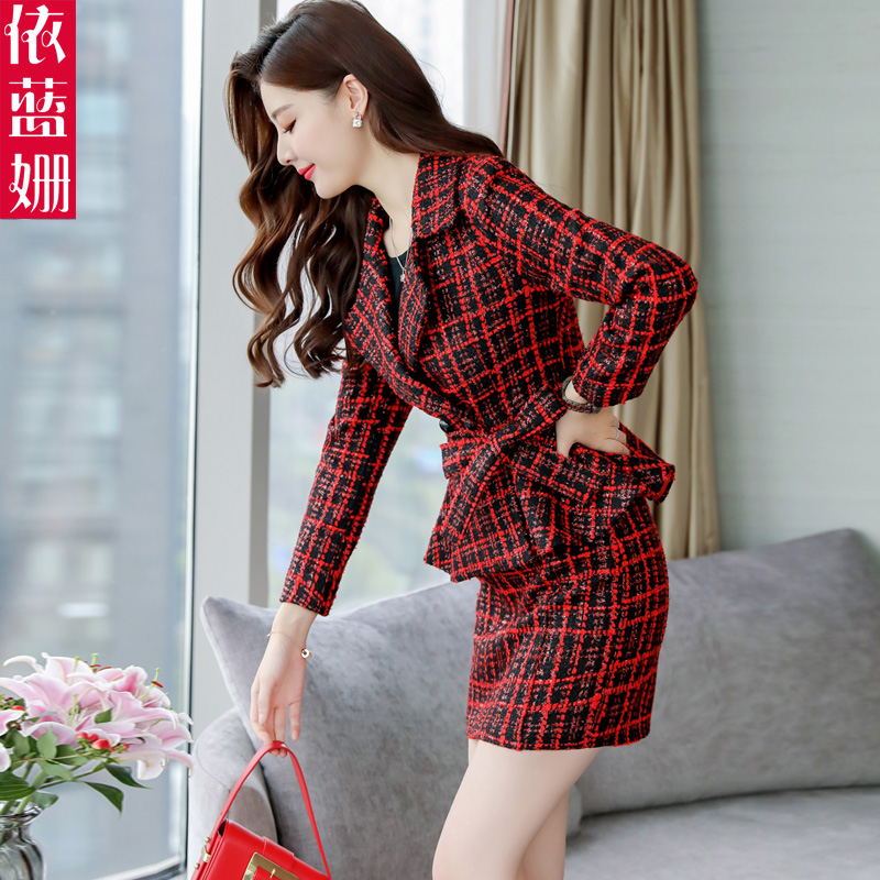 Hot DealsíSuit Dress Two-Piece-Set Material Kong-Style Hong Korean-Version Fashion of Small New