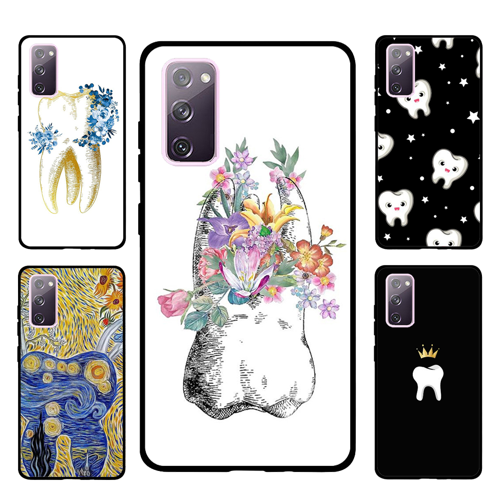 Cute Tooth Dentist Case For Samsung Galaxy S20 FE S8 S9 S10 Plus S10e Note 10 Plus Note 20 S21 Ultra Cover