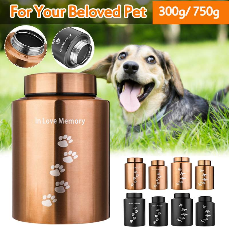 Pets Dog Cat Birds Mouse Cremation Ashes Urn Stainless Steel Urns Keepsake Casket Columbarium Mini Storage Tank Pets Memorials