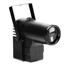 Pinspot Light z 10W LED wiązka RGBW Spotlight obsługiwany dźwięk DMX aktywowany na potańcówka DJ pokaz Disco kula lustrzana oświetlenie