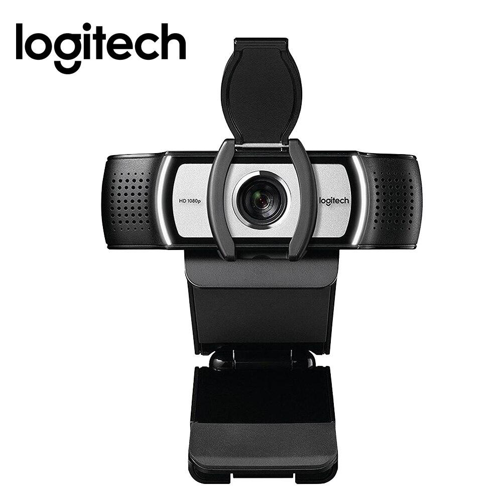 Webcam originale Logitech C930c HD Smart 1080P avec couvercle pour ordinateur objectif Zeiss caméra vidéo USB Zoom numérique 4 fois