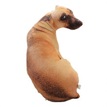 Simulation de chien en peluche mignon, disponible dans une variété de races comme oreiller, contour clair et réaliste, accessoires pour la maison, vente