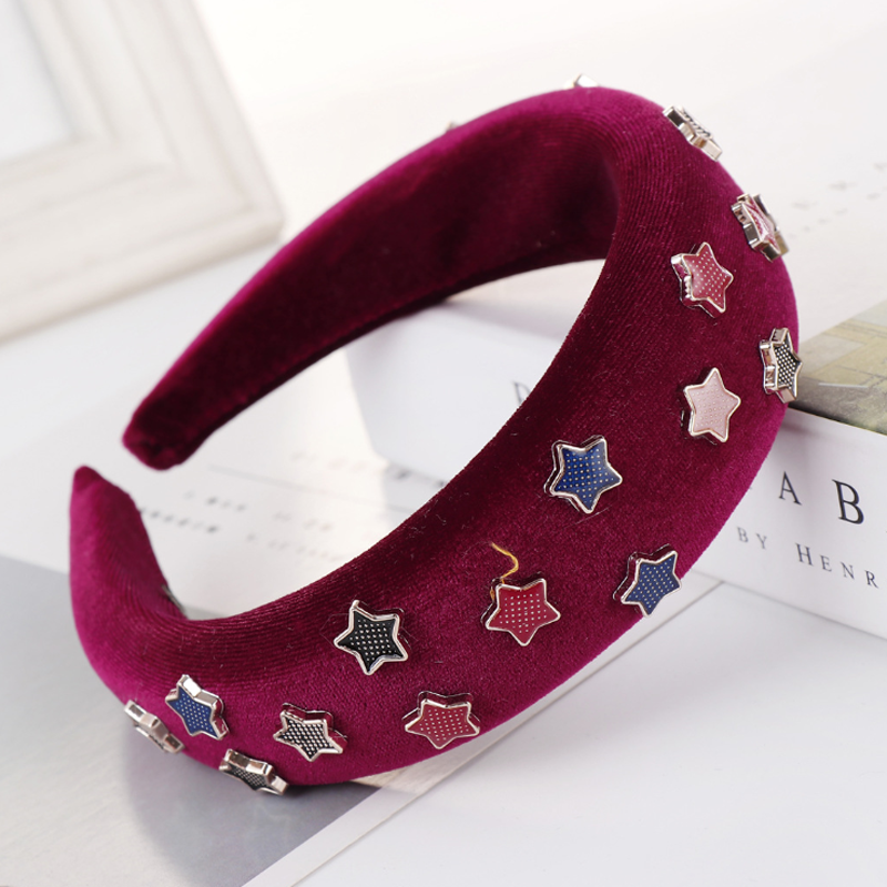 Elegant Women Bohemia Style Pattern HeadbandsPrincess Queen Halloween NightClub Hairwear Soft Wear Bandanas