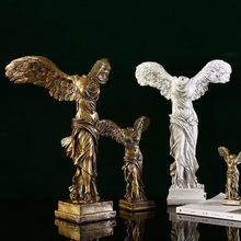 Escultura de resina para decoración del hogar, estatua artística abstracta de estilo europeo Retro para decoración de estudio de oficina y casa
