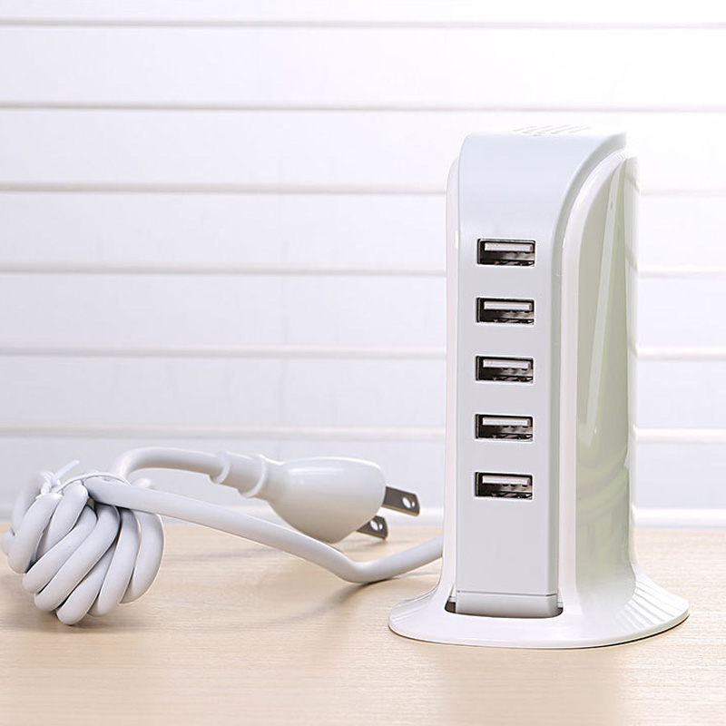 5 USB ports Multiple device charging station for Apple iphone ipad