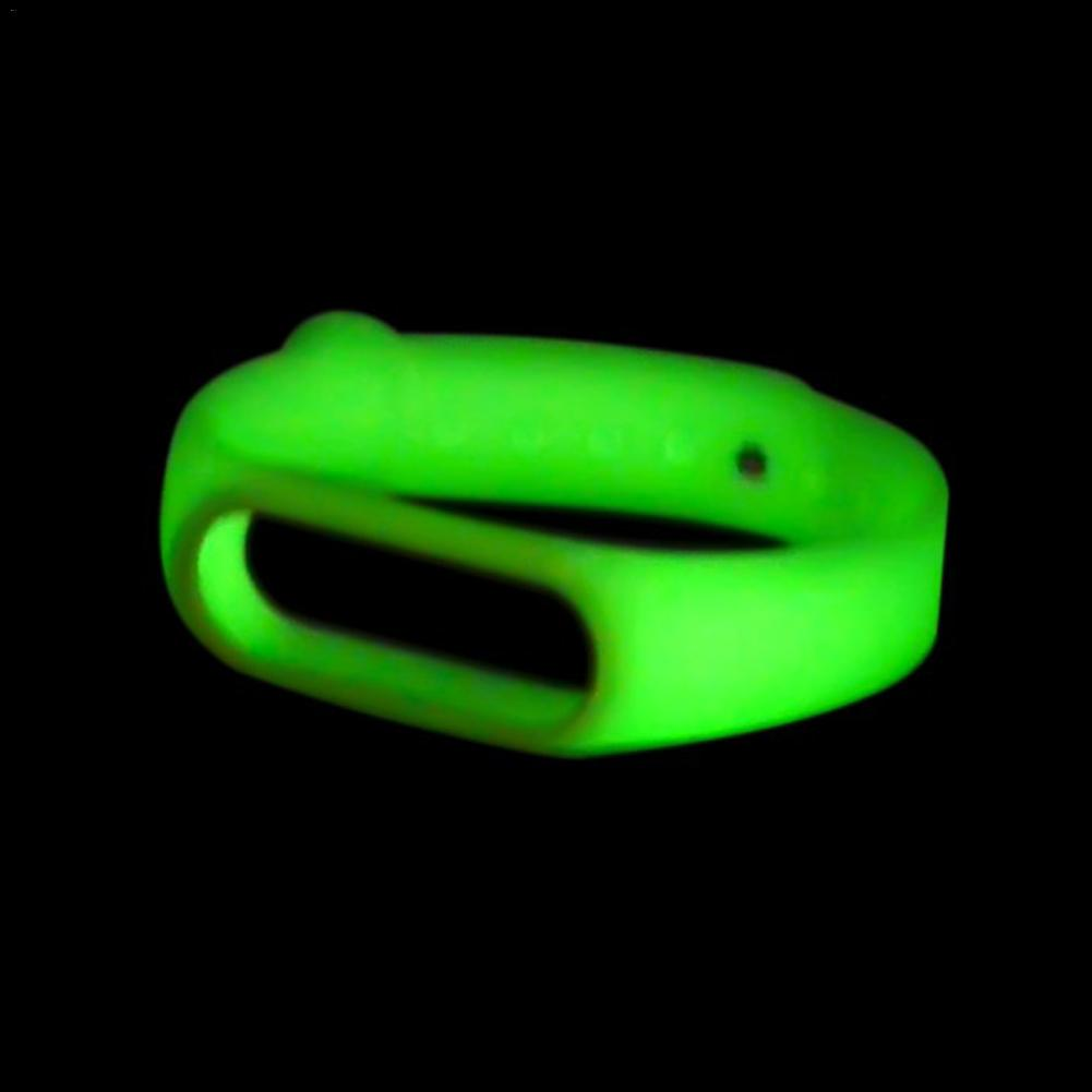 Luminous Strap For Xiaomi Mi Band 4 & 3 Wristband Night Fluorescent Green Replacement Watch Band For Xiaomi Smart Bracelet 3 4