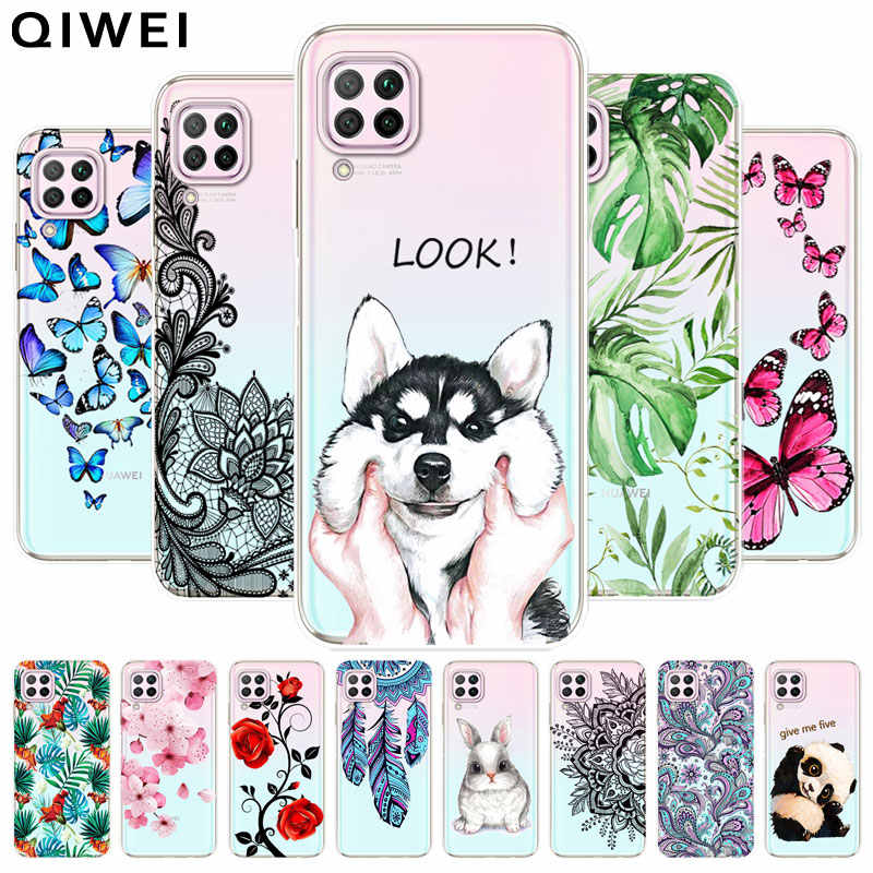 For Huawei P40 Lite Case slim cute transparent Clear Soft TPU silicon back Cover for Huawei P40Lite p 40 lite 2020 Phone Cases