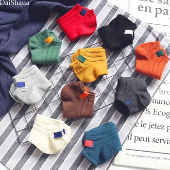 10Pairs/Lot Women Socks Spring Summer Classic Cotton Soft Stripe Sock Ladies College Wind Fashion Lovers Girls Sox EUR35-40