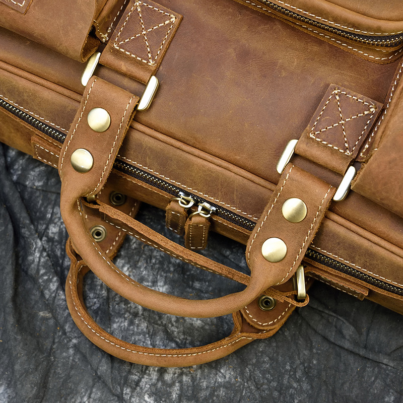 """H9da639b4e2944d1bb522eb6bae3d20f3n MAHEU Men Briefcase Genuine Leather Laptop Bag 15.6"""" PC Doctor Lawyer Computer Bag Cowhide Male Briefcase Cow Leather Men Bag"""