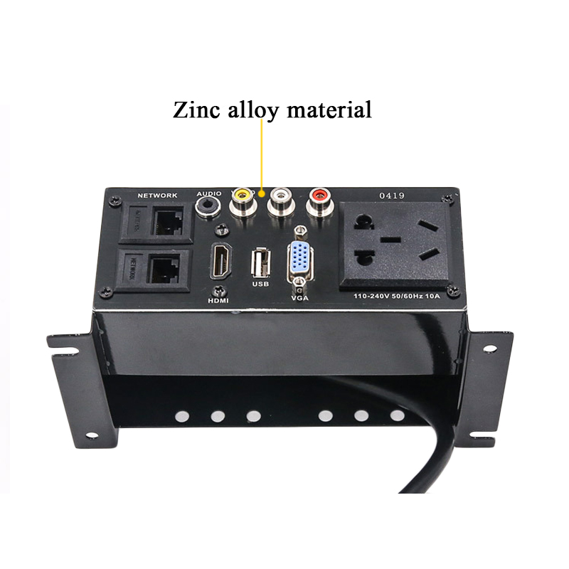 Painel da liga do zinco da caixa