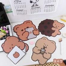 Cup Mat Pads Desk-Mat Mouse-Pad Stationary Office-Decoration Animal Antislip Bear Boys