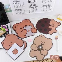 1 Pc Lovely Animal Mouse Pad Kawaii Bear Desk Mat Pads Waterproof Office Decoration Cup Mat Antislip Girls Boys Cute Stationary