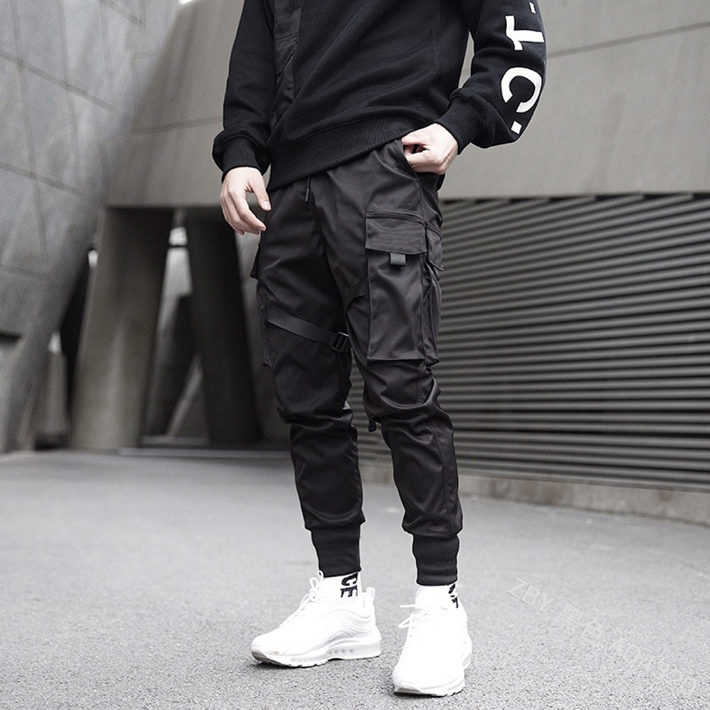 Chinos Trousers Pantalones Streetwear Leisure Men's Hip-Hop Casual GH50 Solid-Color Hombre