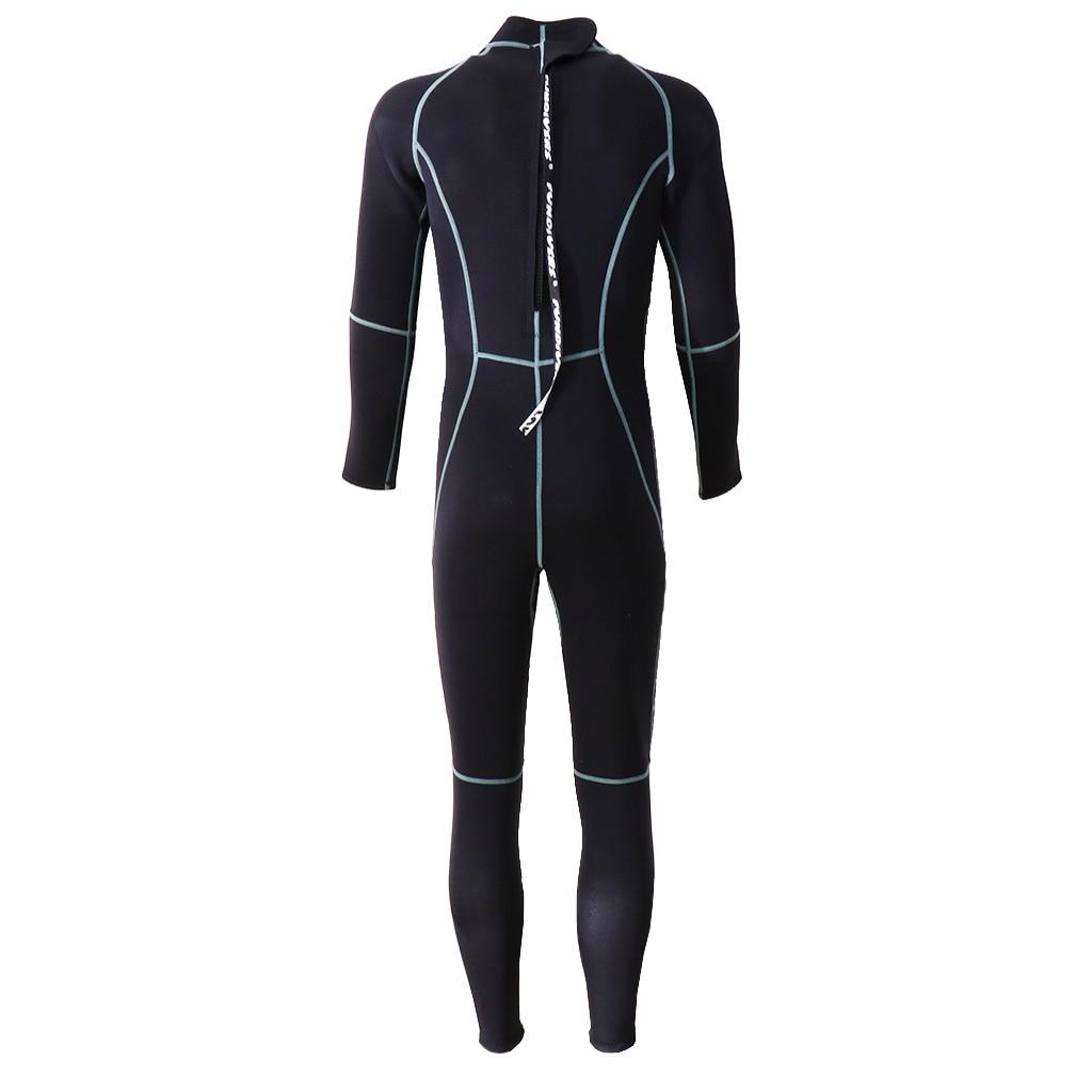 Premium Neoprene Wetsuit 3mm Men Scuba Diving Thermal Winter Warm Wetsuits Full Suit – Black