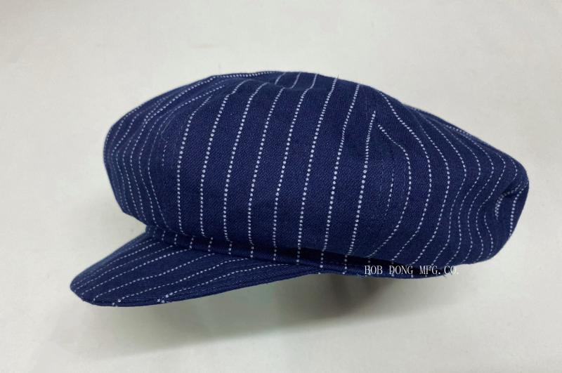 BOB DONG 2020 Mens Wabash Stripes Newsboy Hats Vintage Eight Panel Cap Workwear