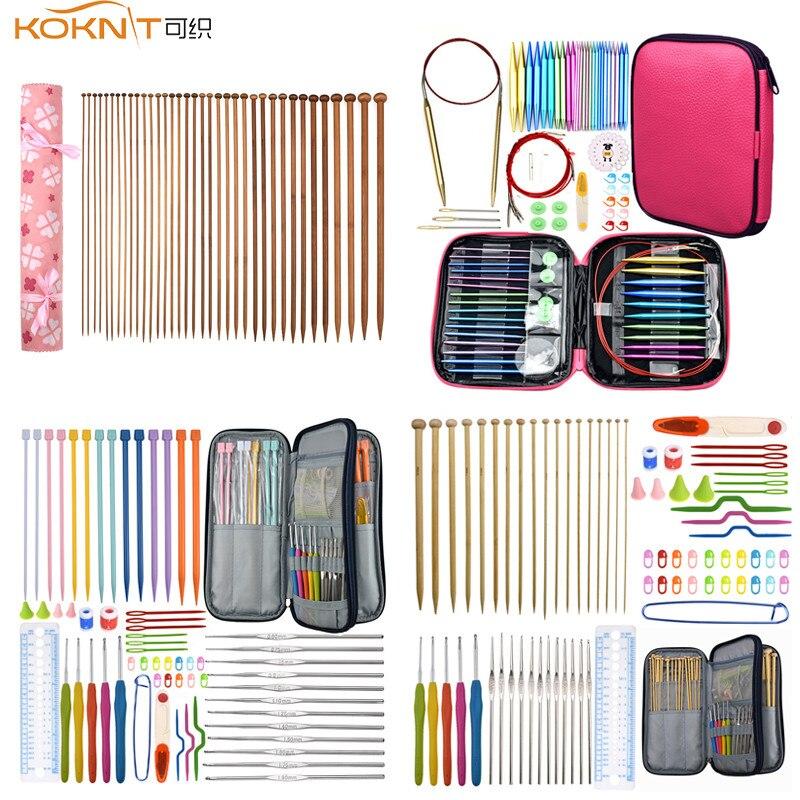 KOKNIT Knitting Needles For Beginner Sweater Crochet Hooks Set DIY Craft Sewing Accessories Yarn Weave Knitting Needles Hook Kit