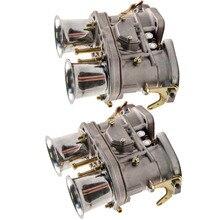 2 قطعة ل فولكسفاغن ل بيتل ل VW ل بورش 48IDF ث/الهواء قرون المكربن