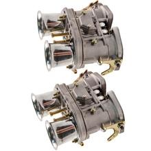 2 adet için Volkswagen Beetle VW Porsche için 48IDF w/hava boynuzları karbüratör