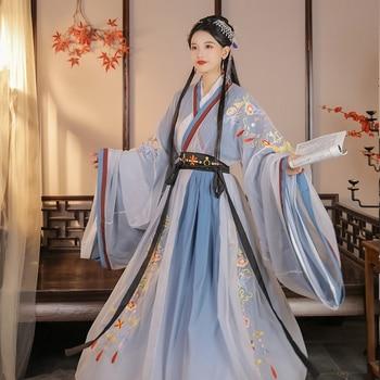 Chinese Traditional Hanfu Elegant Princess Dress Costume Woman Ancient Han Dynasty Dress Lady Elegance Tang Dynasty Dance Wear woman traditional hanfu clothing chinese folk dance costume lay han dynasty princess dance wear girl vintage fairy stage dress