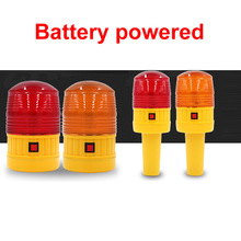 led alarm light strobe red yellow mini traffic warning battery cones safety flare flashing