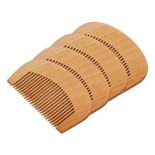Mini peigne en bois de 9cm de long, pour cheveux lisses, moustache, barbe, toilettage, petite taille, outil de coiffure Portable
