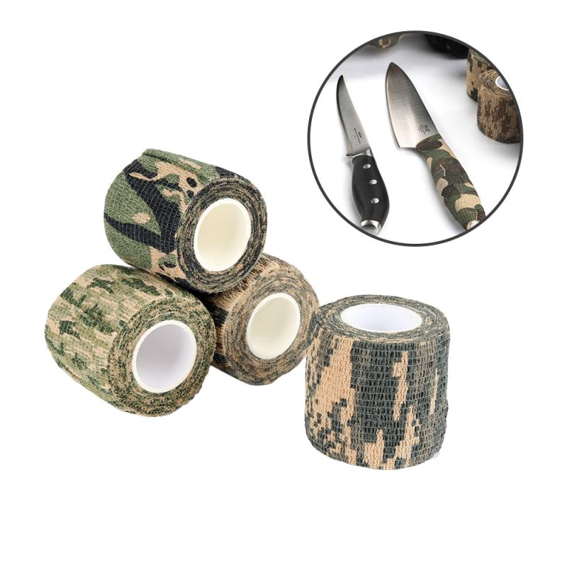 Army Camo Outdoor Hunting Shooting Blind Wrap Camouflage Stealth Tape Waterproof Wrap Durable 5cmx4.5m Hunting Shooting Tool