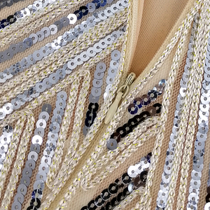 Image 4 - 1920s sukienka Flapper sukienka w stylu wielki Gatsby O Neck krótki kimonowy rękaw cekiny Fringe do kolan na imprezę sukienka Vestido De Verano letnie kobiety sukienka