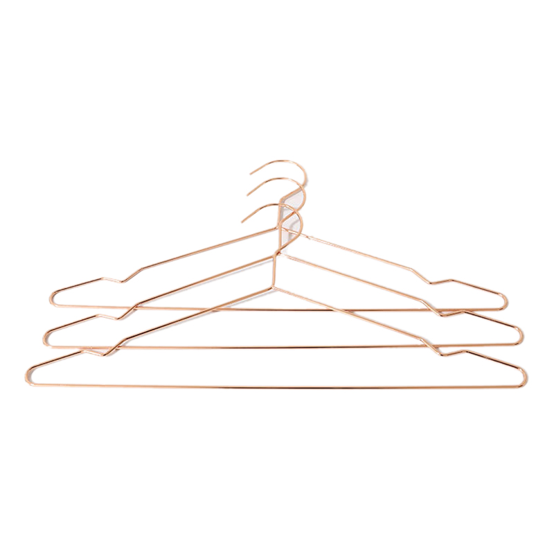 Metal Strong Clothes Coat Dress Hangers Pack Of 10 Chromium-Plated Non-Slip Space Saving, 42 Cm