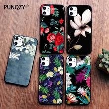 PUNQZY Love Fish Vintage Flowers Cute Phone Case For iPhone 11 PRO MAX 7S 7 8 plus X XR XS MAX Soft TPU Case Drop Protection punqzy cute baby super girl mom love case for iphone 11 pro max 6 7 7s 8 plus xs xr xs max soft tpu transparent love mom love