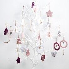 Wooden Christmas Pendants Hanging Decorative Ornaments For Holiday Seasonal Tree Decoration Adornos De Navidad
