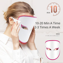 Anti-Aging Photon Electric LED Facial Mask Therapy Light Mask Beauty Skin Tool Three Colors Red Blue Orange Reduce Wrinkle Acne(China)