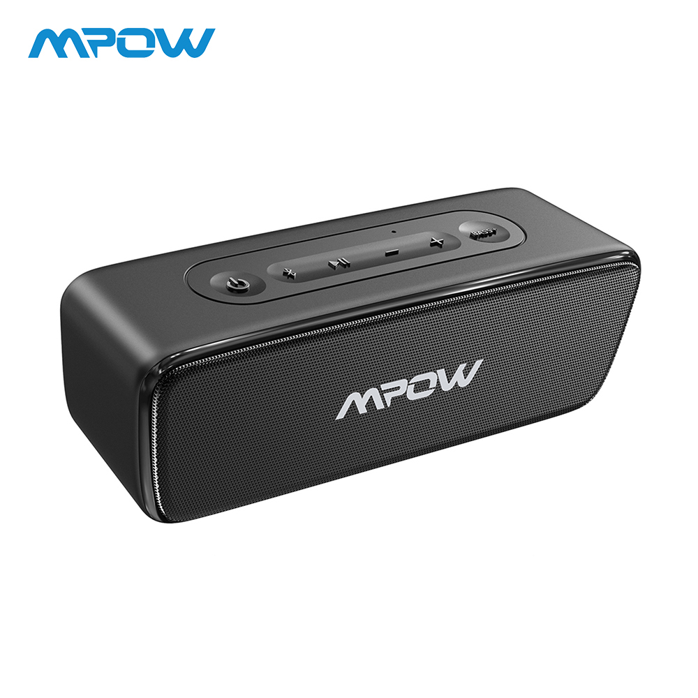 Mpow 12W Soundhot Bluetooth Speaker Wireless Portable Deep Bass Soundbar With 24H Play Time For Home Theater Computer PC