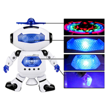 цена на Action Figure Robot Toys for Kids Lighting Walking Music Intelligent Obstacle Avoidance Dancing Robot Action Figure Toy for Gift