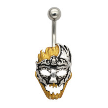Musi Belly Ring 316L Surgical Stainless Steel Peking Opera Facial Make up Ring For Men Women Piercing Belly Ring(China)