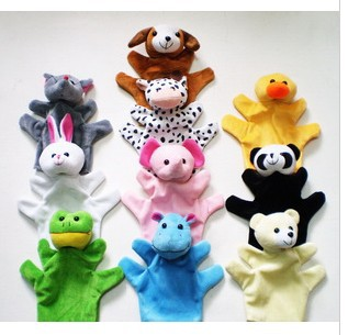 Puppet Finger Toy Unisex Toys For Children And Kids Soft Toy Set Plush Hand Puppets Theater Dolls Zoo Animal Panda Cute Kwaii